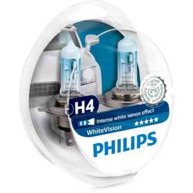 Philips 4x Lâmpadas WhiteVision H4 + W5W - 12342WHVSM